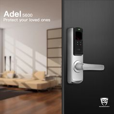 Adel 5600 Is An Advanced High Tech Reversible Handle Digital Door Lock That  Add Security To Your Home.