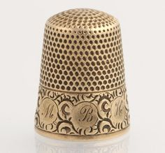 Antique MBH Thimble  14k Yellow Gold Women's by WilsonBrothers