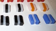 Striped Fused Glass Cabochons - Before Firing