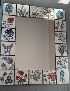 China Painting, Decorative Tile, Tiles, Gallery Wall, Mirror, Frame, Silk, Zentangle Drawings, Room Tiles
