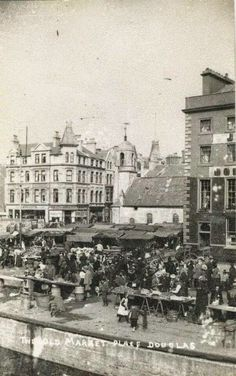 The Old Market Place On North Quay, Douglas, Isle of Man Old Images, Old Photos, Ile Of Man, Irish Sea, Kingdom Of Great Britain, Cymru, Guy Pictures, British Isles, Staycation