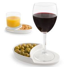 Nibble Coaster. A coaster & small individual food tray all in one. Would be great for entertaining guests & for appetizers.