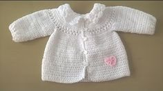 47 ideas crochet patrones bebe saco for 2019 Crochet Baby Clothes, Crochet Baby Hats, Baby Knitting, Cardigan Au Crochet, Cardigan Bebe, Sweater Jacket, Pull Crochet, Knit Crochet, Crochet Doilies