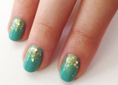 turquoise-gold-nail-art FT - Nails for the Gala