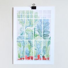Winter in Glasshouses I is an open edition digital print on 160 gsm satin paper by David Fleck Size: A3