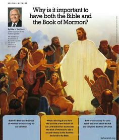 I love the way the Book of Mormon and the Bible testify of the truthfulness of each other.