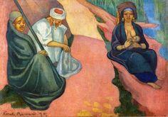 Woman Breastfeeding -  Painting by Emile Bernard | /1868 - 1941/Oil Painting
