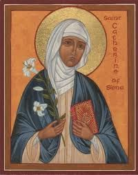 St. Catherine of Sienna, T.O.S.D. (1347 -1380   St. Catherine was a tertiary of the Dominican Order and a Scholastic philosopher and theologian. She also worked to bring the papacy of Gregory XI back to Rome from its displacement in France.  She is one of the two patron saints of Italy, together with St. Francis of Assisi. In 1970 she was proclaimed a Doctor of the Church and in 1999 she was named one of the six patron saints of Europe.