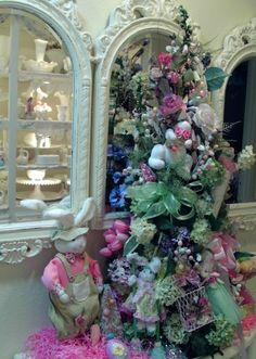 Penny's Vintage Home: Romantic Easter Tree, I should just leave up all my trees & decorate for each season. The grandchildren would love it:-)