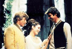 Hmm...brother and sister seem in sync here, and Leia's attentive of Han [was this a hint of what was to be unveiled in Episodes 5 and 6?]  :)