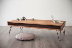 """Lagerung-Couchtisch, Massivholz, goldene Haarnadel Beine, Tabelle Farbe Nussbaum, anpassbare Couchtisch 31 """"x 31"""" (80cmx80cm)"""