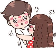 Boobib Cute Couples ( For Girl ) hello – LINE stickers Cute Chibi Couple, Love Cartoon Couple, Cute Couple Comics, Cute Couple Art, Cute Love Stories, Cute Love Pictures, Cute Cartoon Pictures, Cute Love Gif, Cute Drawings Of Love