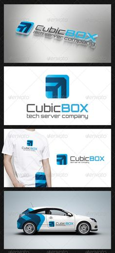 Cube Box Tech Logo Template by BossTwinsMusic - Three color version: Color, greyscale and single color. - The logo is 100 resizable.- You can change text and colors very easy