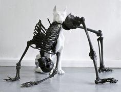 Amazing sculptures by Adam Rushton, more art inspirations and skull designs at skullspiration.com