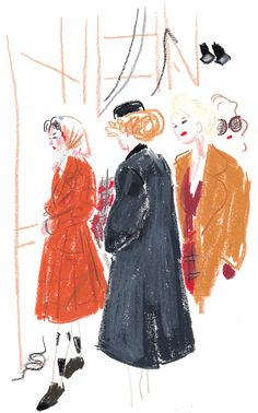 Viviennewestwoodred Illustration: Damien Cuypers London Fashion Week