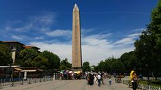 Ancient Egyptian Obelisk standing in the heart of Istanbul's old city for centuries.