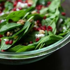 Spinach Pomegranate Salad Recipe