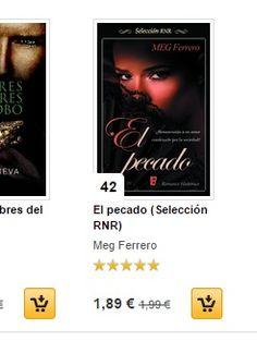 EL PECADO, a puntito de cumplir un año en el mercado, hoy en el 42 de los más vendidos en fnac http://ebooks.fnac.es/el-pecado-seleccion-rnr-ferrero-meg-9788490198285 http://mybook.to/el-pecado-rnr
