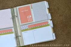 A Vegas Girl at Heart: June 1 Monthly Freebie - Recipe Book Printables Scrapbook Recipe Book, Paper Bag Scrapbook, Scrapbook Cards, Scrapbooking, Project Life Scrapbook, Project Life Layouts, Homemade Recipe Books, Diy Recipe, Family Recipe Book