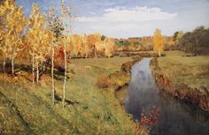 Isaac Levitan, Golden Autumn, 1895.