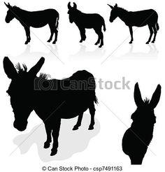 silhouette donkey free printable - Google Search