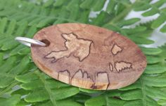 Oval Pendant Spalted Hawthorne by MackeyArtistry on Etsy