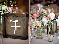 wood box table numbers