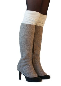 pepavanas, accessory for high heels. 'original' made of naturel wool felt