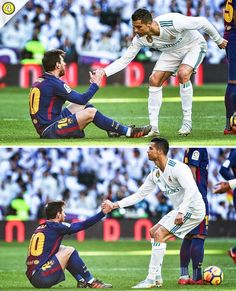 Football is all about respect 🙌🤝 First Football, Football Soccer, Football Shirts, Football Players, Messi Vs Ronaldo, Lionel Messi, Cristiano Ronaldo, Respect Pictures, Soccer Pictures