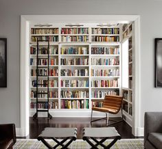 Custom #bookcase | Lincoln Park residence by Lichten Craig Architecture + Interiors. #decorating