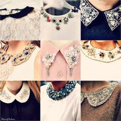 To know more about collar, visit Sumally, a social network that gathers together all the wanted things in the world! Dress Neck Designs, Collar Designs, Designs For Dresses, Studded Collar, Collar And Cuff, Beaded Collar, Collar Necklace, Do It Yourself Mode, Dress Patterns