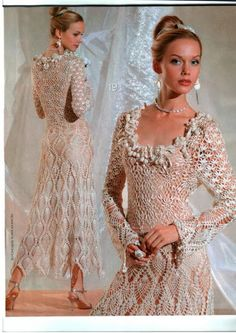 Russian Crochet Tea Dress