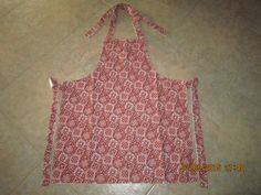 Rust Bandana Cotton (solid white backing-no pockets) - Adult Sized Apron by ShawnasSpecialties on Etsy