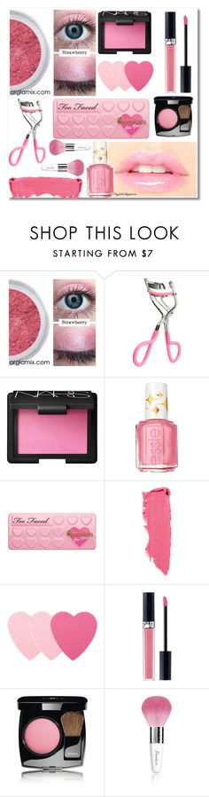 """""""Strawberry make up look"""" by dianakhuzatyan ❤ liked on Polyvore featuring beauty, NARS Cosmetics, Essie, Too Faced Cosmetics, Lipstick Queen, Sephora Collection, Christian Dior, Chanel, Guerlain and strawberrymakeup"""