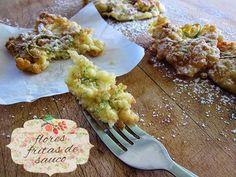Flores fritas de sauco (Gebackene Hollerstängel) porque no se llora con la boca llena