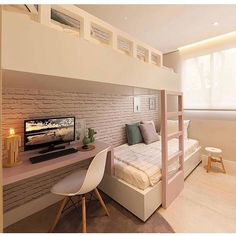 Awesome Quarto Decorado Feminino Moderno that you must know, Youre in good company if you?re looking for Quarto Decorado Feminino Moderno Home Room Design, Room, Bedroom Design, House Rooms, Small Room Bedroom, Bunk Bed Rooms, Trendy Bedroom, Bunk Bed Designs, Dream Rooms