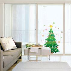 Amazon.com: Nursery Easy Apply Wall Sticker Decorations - Sparkly Christmas Tree: Home Improvement -  Window/Wall sticker