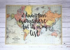 I haven't been everywhere but it's on my list - Light Blue World Map - Gale Nation Your love of travel will show on this unique map! This beautiful Light Blue World map looks fabulous with Gale. World Travel Decor, Travel Room Decor, Travel Bedroom, Travel Themes, World Map Decor, Travel Destinations, Cool Ideas, White Home Decor, Unique Home Decor