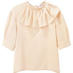 Charles Anastase Katoucha Silk Top ❤ liked on Polyvore (see more silk blouses)