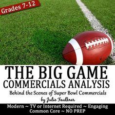 The Big Game Commercial Analysis Ethos, Pathos, Logos Acti