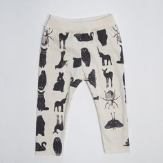 Limited Edition - Grid Collective Hand Printed Organic Baby Leggings