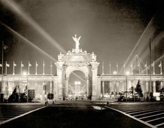 Princes' Gates, C. at night, - Courtesy of Canada Science and Technology Museums Corporation. Winged Victory, Science And Technology, Ontario, Toronto, History Pics, Louvre, Canada, Adventure, Museums