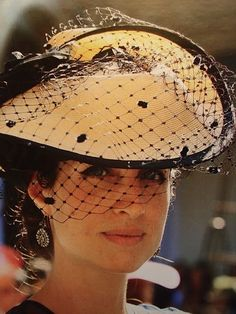 hat with birdcage veil