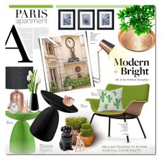 """""""#ParisApartment"""" by justlovedesign ❤ liked on Polyvore featuring interior, interiors, interior design, home, home decor, interior decorating, Dot & Bo, Herman Miller, CHICHI and Mikasa"""