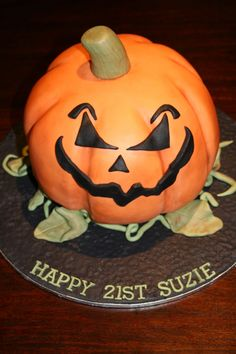 Halloween Pumpkin Birthday Cake