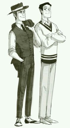 20s SNK AU - Jean and Marco
