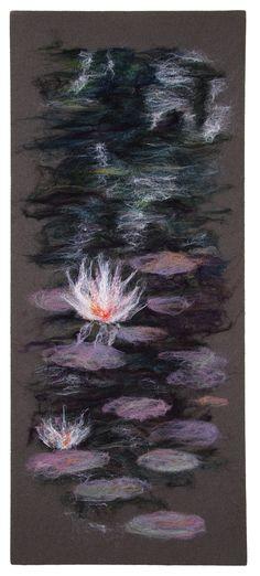 Fibre art by Alison Murphy. Wool and silk.