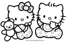Hello Kitty Valentine's Day coloring draws!