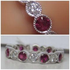 169 IDJ pink ruby eternity ring
