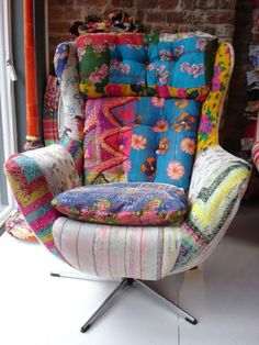 Words can't describe how much I love this chair. The shape...the patches. soooo lovely.